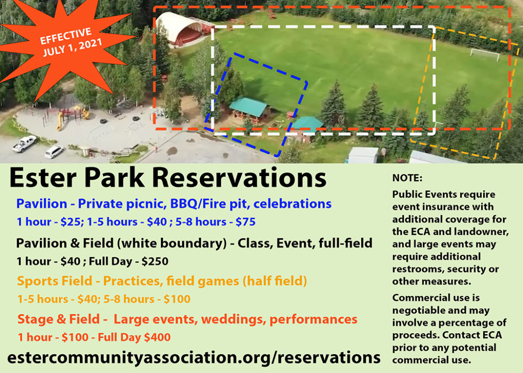 Ester Park Reservation Prices and Info